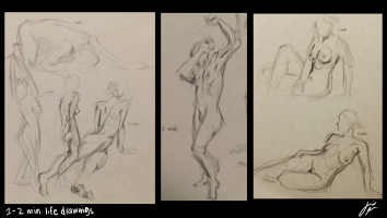 1 and 2 Minute Life Drawings