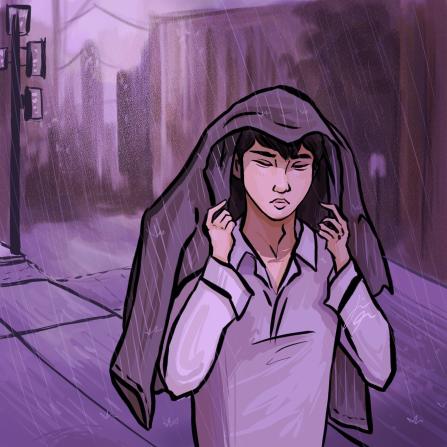 Purple Rain Illustration